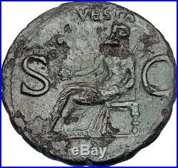 CALIGULA the INFAMOUS Roman Emperor 37AD Authentic Ancient Coin of Rome i65823