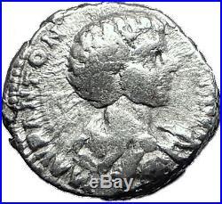 CARACALLA 196AD Rome Silver Authentic Ancient Roman Coin Minerva i60467