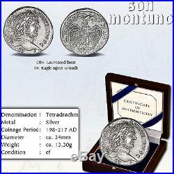 CARACALLA Ancient Tetradrachm Silver Coin Roman Province Syria XF 198-217 AD