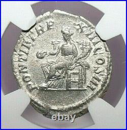 CARACALLA NGC XF ROMAN COINS, AD 198-217. AR Denarius. A786
