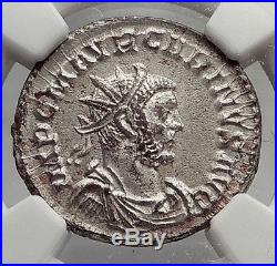 CARINUS 284AD Authentic Ancient Silvered Roman Coin SALUS NGC Certified i62061