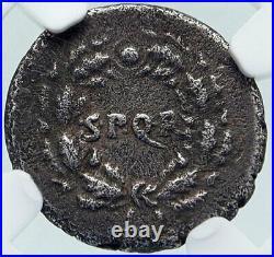 CIVIL WARS vs NERO Very RARE Galba Vindex Ancient Silver Roman Coin NGC i86400