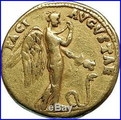 CLAUDIUS 51AD Lugdunum GOLD Aureus Authentic Ancient Roman Coin Pax-Nemesis