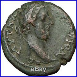 COMMODUS 177AD She Wolf Romulus Remus Ancient Roman Coin Nicopolis i18729