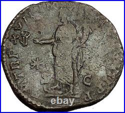 COMMODUS 183AD Sestertius Big Ancient Roman Coin Felicitas Good luck Cult i53022
