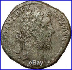 COMMODUS 190AD Sestertius Big Ancient Roman Coin Genius Cult Prosperity i18165