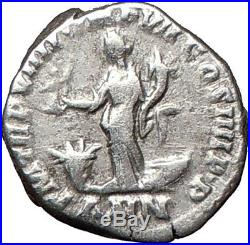 COMMODUS Nude gladiator 177AD Rare Ancient Silver Roman Coin ANNONA i26710