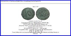 CONSTANTINE I 337AD Heaven CHARIOT Horse Ancient Roman Coin God Hand i21399
