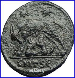 CONSTANTINE I The Great 330AD Ancient Roman Coin Romulus & Remus Wolf i74228