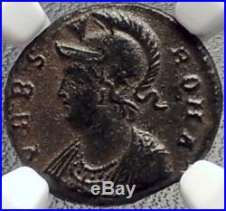 CONSTANTINE I the GREAT 330AD Romulus Remus WOLF Ancient Roman Coin NGC i69161
