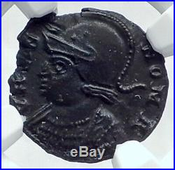 CONSTANTINE I the GREAT 330AD Romulus Remus WOLF Ancient Roman Coin NGC i81123
