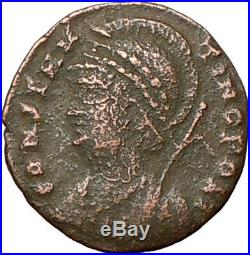 CONSTANTINE I the Great Founds CONSTANTINOPLE Ancient Roman Coin i23975 Victory