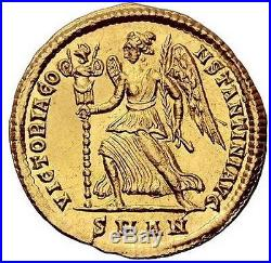 CONSTANTINE the GREAT 335AD NGC Certified Choice AU Ancient Roman Gold Coin Rare