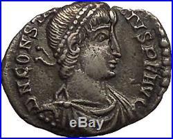 CONSTANTIUS II 355AD Arles Silver Siliqua Authentic Ancient Roman Coin i53413