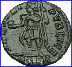 CONSTANTIUS II son of Constantine the Great with globe Ancient Roman Coin i39959