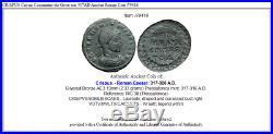 CRISPUS Caesar Constantine the Great son 317AD Ancient Roman Coin i79416