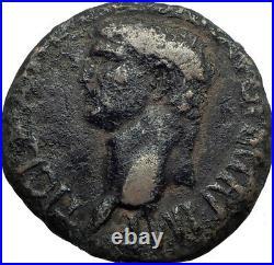 Claudius 41AD Rare Big Authentic Ancient Roman Coin Minerva Wisdom Cult i42211