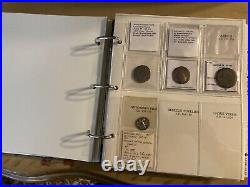Coins of the Ancient Roman Empire Collectors Album/Index including many coins