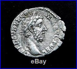 Commodus. Stunning Denarius. Son of Marcus Aurelius. Ancient Roman Silver Coin