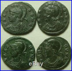 Constantine 337 Lot genuine ancient Roman coins VRBS ROMA she wolf Romulus Remus