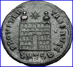 Constantine I the Great 326AD Ancient Roman Coin Military camp gate i57915