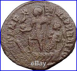 Constantius II w phoenix Constantine the Great son Ancient Roman Coin i30875