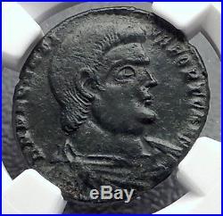 DECENTIUS Rare JESUS CHRIST Chi-Rho Alpha Omega Ancient Roman Coin NGC i60425