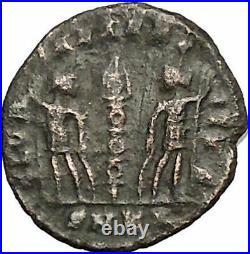 DELMATIUS Dalmatius 336AD Roman Caesar Ancient Coin Soldiers Legions i52854