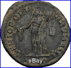 DIOCLETIAN 288AD Authentic Ancient Roman Coin Genius Protection Cult i56350