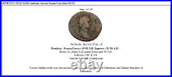 DOMITIAN 85AD RARE Authentic Ancient Roman Coin Altar i46108