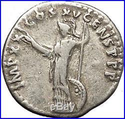 DOMITIAN son of Vespasian Silver Ancient Roman Coin Athena Minerva Cult i53343