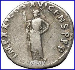 DOMITIAN son of Vespasian Silver Ancient Roman Coin Athena Minerva i53311