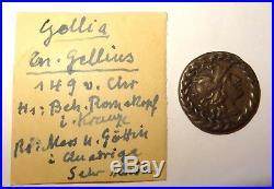 Denier Romain Argent Gellius 138 Bc Roman Silver Denarius Ancient Coin