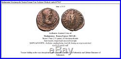 Diadumenian Marcianopolis Ancient Roman Coin Asclepius Medical symbol i47825