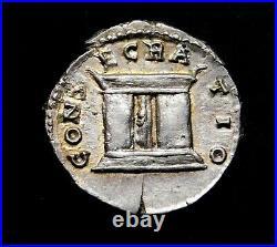 Diva Faustina Sr. Rare Denarius. Mother of Marcus Aurelius. Roman Silver Coin