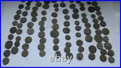 Diverse Lot Of 100 Uncleaned Ancient Roman Imperial Bronze Coins Iii-v Century