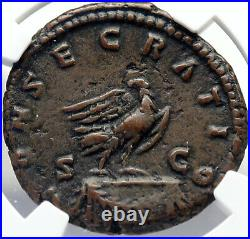 Divus MARCUS AURELIUS Authentic Ancient 180AD Roman Coin EAGLE NGC i82715