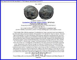 Divus Saint CONSTANTINE I the GREAT 347AD Authentic Ancient Roman Coin i69777
