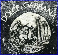 Dolce & Gabbana Cotton & Linen Ancient Coin Print Shirt Size 56 Roman Rome DG