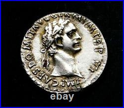 Domitian (AD 81-96) AR Stunning Fourrée Denarius. Ancient Roman Silver Coin