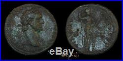 Domitian Rome Mint Ancient Roman Ae As Coin 020651