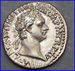 Domitian, Silver denarius, RIC 788 Rome, Ancient Roman Coin Exceptionally Nice