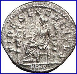 ELAGABALUS Gay Emperor Ancient Silver Roman Coin Fides TRUS T w Eagle i21259