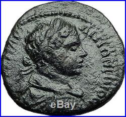 ELAGABALUS on HORSE 218AD Pautalia Thrace Authentic Ancient Roman Coin i57893