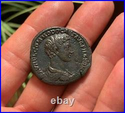 EMP COMMODUS RARE Ancient Roman Coin Sestertius 175AD JUPITER IOVI RIC1525 24.7g