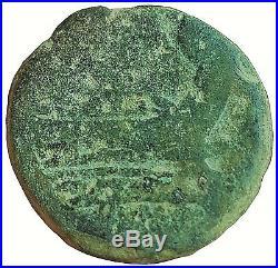 Early Roman Republic / 179bc Janus Galley Ship / Ancient Roman Coin