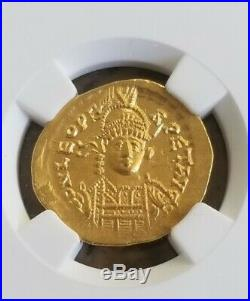 Eastern Roman Empire LEO I Solidus NGC Choice AU 5/3 Ancient Gold Coin