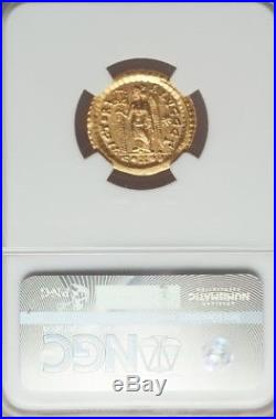 Eastern Roman Empire Leo I NGC MS 5/3 ancient gold coin