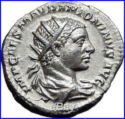 Elagabalus 218AD Silver Authentic Ancient Roman Coin Roma Cult Rare i57970