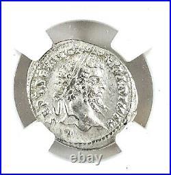 Emperor Septimius Severus, Denarius Roman Silver Coin NGC Certified AU & Story